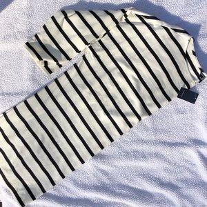Lands End 3/4 Sleeve Stripe T-Shirt (L)